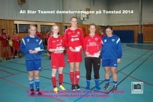 07. All star laget. Gyland(Tonstad), Oda Bogstad(Tonstad), Martha Helvig(Tonstad). Oseøom Johansen(Lyngdal) og Camilla Aabel(Lyngdal).
